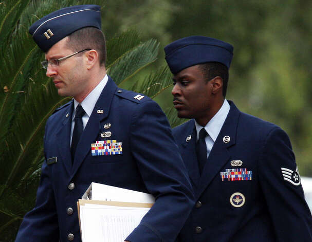 Jan. 31, 2013: A day after jurors cleared Staff Sgt. Donald Davis of the most serious charges against him, he was sentenced to three months of hard labor and a bad conduct discharge for having sex with a trainee in technical school. Read more: Air Force instructor sentenced to hard labor Photo: Jerry Lara, San Antonio Express-News / © 2012 San Antonio Express-News