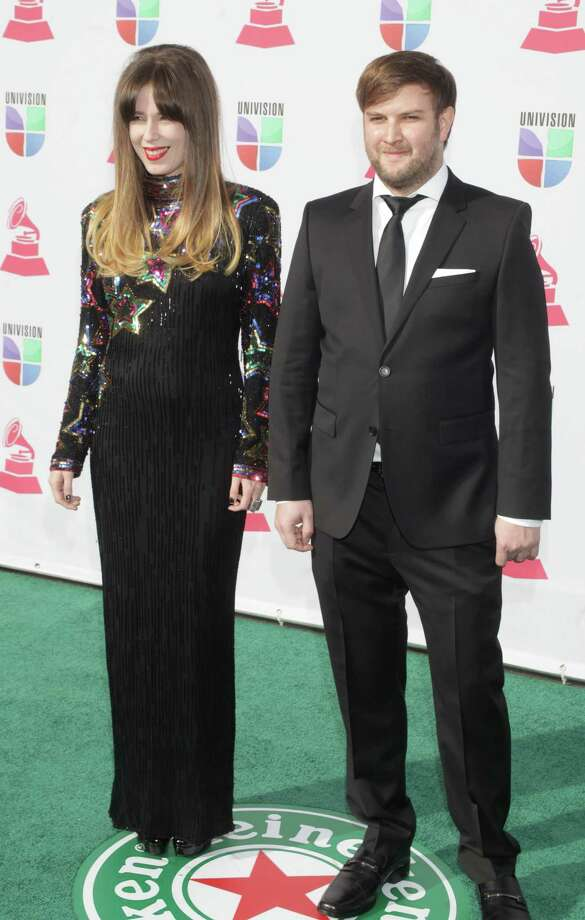 Singer Pamela Rodriguez and David Little arrive for the 13th Annual Latin Grammy Awards on November 15, 2012 in Las Vegas, Nevada.    AFP PHOTO/John GURZINSKIJOHN GURZINSKI/AFP/Getty Images Photo: JOHN GURZINSKI, Getty Images / AFP