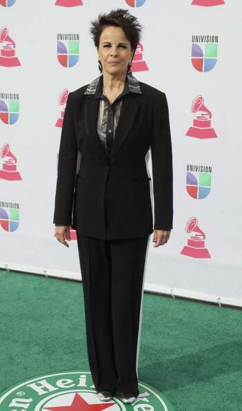 Brazilian Bossa Nova singer Leila Pinheiro arrives for the 13th Annual Latin Grammy Awards on Novemb