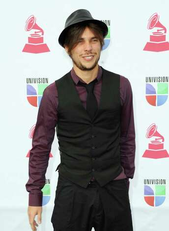 Musician Christopher Manhey arrives at the 13th annual Latin GRAMMY Awards held at the Mandalay Bay Events Center on November 15, 2012 in Las Vegas, Nevada. Photo: Jason Merritt, Getty Images / 2012 Getty Images