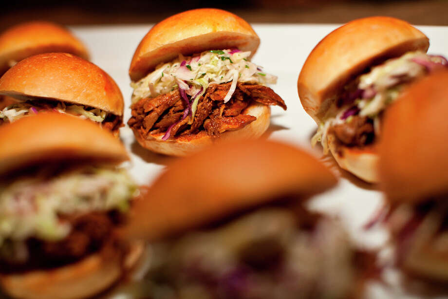 Adobo marinated pork sliders with cole slaw and citrus vinaigrette from chef Pablo Jacinto of The Grill at Silverado Resort. Photo: Jason Henry, Special To The Chronicle / ONLINE_YES