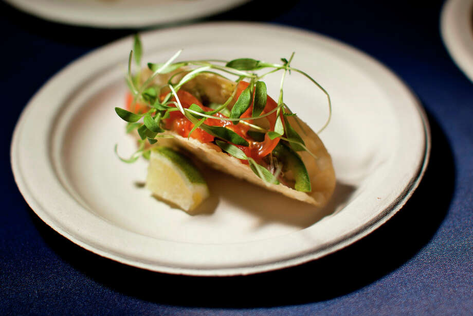 Albacore tuna tacos from chefs Masaharu Morimoto and Kang Kuan of Morimoto Napa. Photo: Jason Henry, Special To The Chronicle / ONLINE_YES