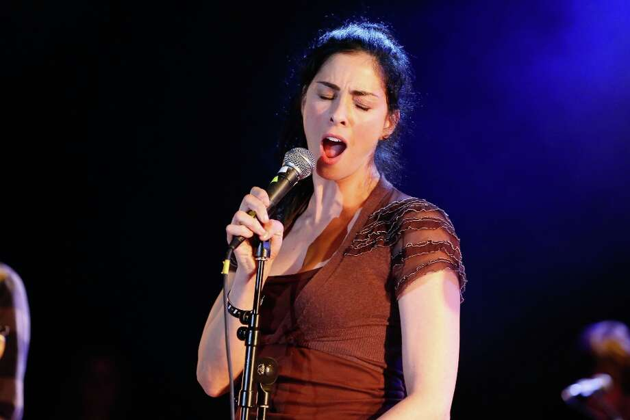 Comedian Sarah Silverman performs onstage singing 'Don't Come Around Here No More' at the first ever Jameson Petty Fest West at El Rey Theatre on November 14, 2012 in Los Angeles, California.  (Photo by Imeh Akpanudosen/Getty Images For Jameson) Photo: Imeh Akpanudosen, Getty Images For Jameson / 2012 Getty Images
