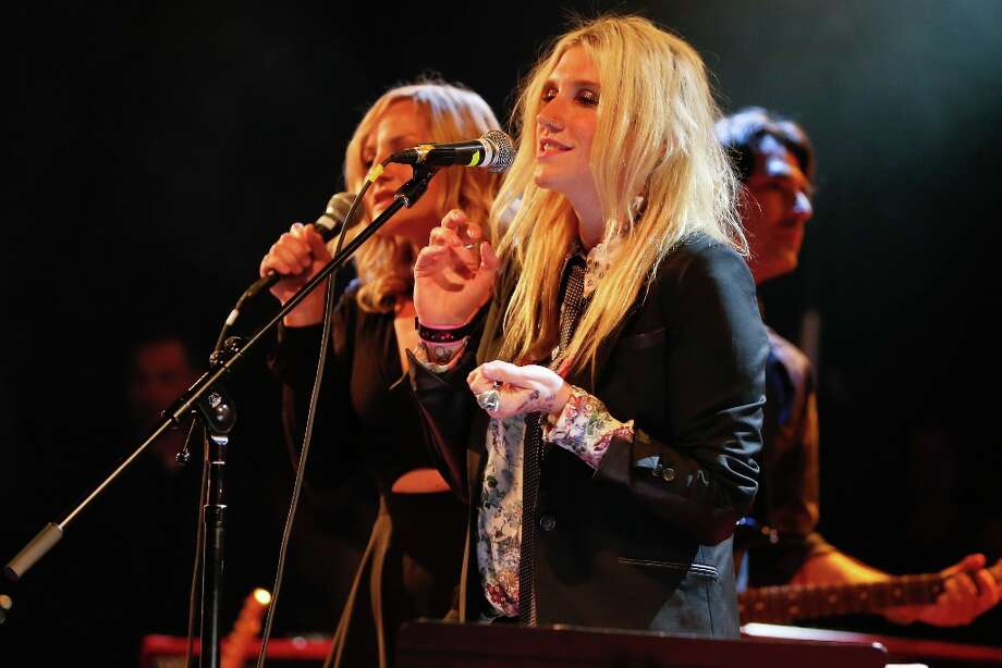 Singer Ke$ha performs onstage singing 'Mary Jane's Last Dance' at the first ever Jameson Petty Fest West at El Rey Theatre on November 14, 2012 in Los Angeles, California.  (Photo by Imeh Akpanudosen/Getty Images For Jameson) Photo: Imeh Akpanudosen, Getty Images For Jameson / 2012 Getty Images