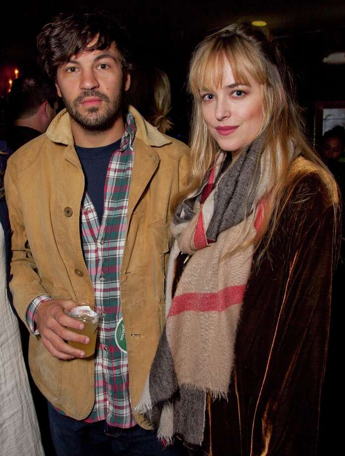 Actor Jordan Masterson and actress Dakota Johnson attend the first ever Jameson Petty Fest West at El Rey Theatre on November 14, 2012 in Los Angeles, California.  (Photo by Imeh Akpanudosen/Getty Images For Jameson) Photo: Imeh Akpanudosen, Getty Images For Jameson / 2012 Getty Images