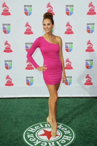 TV personality Danielle Demski arrives at the 13th annual Latin GRAMMY Awards held at the Mandalay