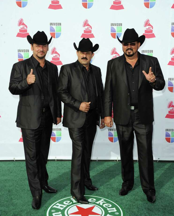 (L-R) Jose Ariel Izunza, Miguel Montoya, and Miguel Angulo members of Miguel y Miguel arrive at the 13th annual Latin GRAMMY Awards held at the Mandalay Bay Events Center on November 15, 2012 in Las Vegas, Nevada. Photo: Jason Merritt, Getty Images / 2012 Getty Images