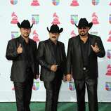 (L-R) Jose Ariel Izunza, Miguel Montoya, and Miguel Angulo members of Miguel y Miguel arrive at the 13th annual Latin GRAMMY Awards held at the Mandalay Bay Events Center on November 15, 2012 in Las Vegas, Nevada.