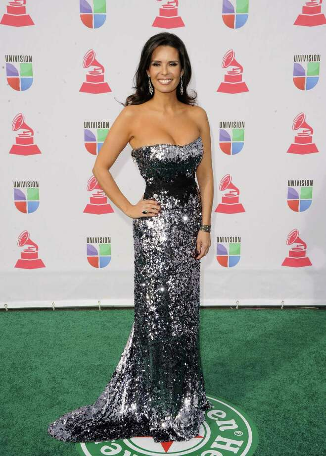TV personality Karent Sierra (jewelry detail) arrives at the 13th annual Latin GRAMMY Awards held at the Mandalay Bay Events Center on November 15, 2012 in Las Vegas, Nevada. Photo: Jason Merritt, Getty Images / 2012 Getty Images