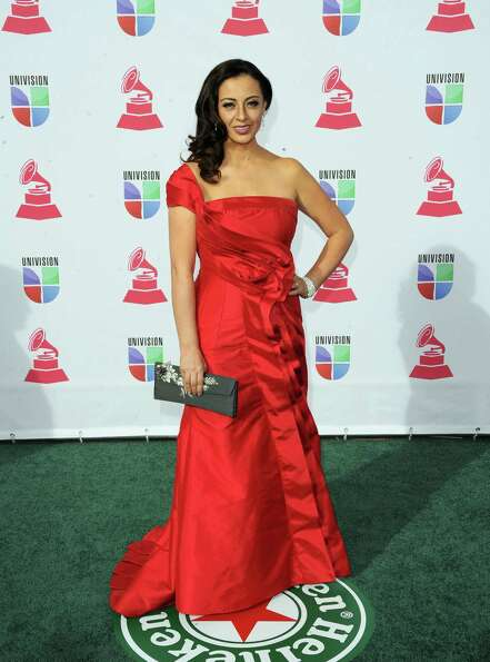 Singer Paulina Aguirre arrives at the 13th annual Latin GRAMMY Awards held at the Mandalay Bay Eve