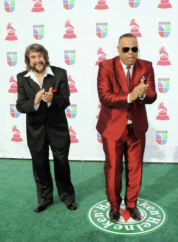 Musicians Eddy Navia (L) and Chuchito Valdes arrive at the 13th annual Latin GRAMMY Awards held at the Mandalay Bay Events Center on November 15, 2012 in Las Vegas, Nevada. Photo: Jason Merritt, Getty Images / 2012 Getty Images