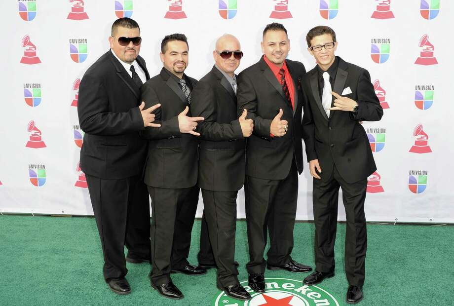 Grupo Destino arrives at the 13th annual Latin GRAMMY Awards held at the Mandalay Bay Events Center on November 15, 2012 in Las Vegas, Nevada. Photo: Jason Merritt, Getty Images / 2012 Getty Images