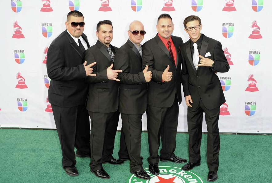 Grupo Destino arrives at the 13th annual Latin GRAMMY Awards held at the Mandalay Bay Events Center