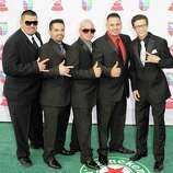 Grupo Destino arrives at the 13th annual Latin GRAMMY Awards held at the Mandalay Bay Events Center on November 15, 2012 in Las Vegas, Nevada.