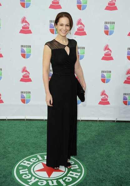 Amanda Knauer arrives at the 13th annual Latin GRAMMY Awards held at the Mandalay Bay Events Center