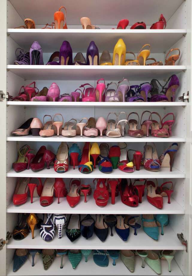 One of three shoe closets at eBay's Amanda Miller's Pacific Heights home in San Francisco, California, USA 14 Sep 2012. (Peter DaSilva/Special to The Chronicle) Photo: Peter DaSilva, Special To The Chronicle / ONLINE_YES