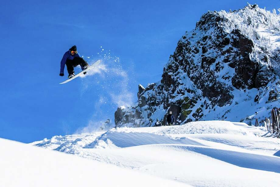 Catching air at Mammoth Mountain, opening weekend, 2012. (Courtesy: Mammoth)