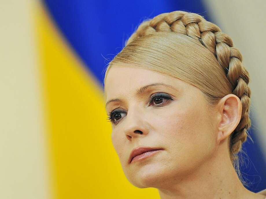 (FILES) A file picture taken on February 4, 2012 shows Ukraine's jailed opposition leader Yulia Tymoshenko during her press-conference in Kiev. Ukrainian First Deputy Health Minister Raisa Moiseyenko said on November 15, 2012 that Tymoshenko had agreed to end her hunger strike following a meeting with German doctors. Tymoshenko started a hunger strike protesting against alleged fraud in the October 28 parliamentary elections won by the party of her arch-foe President Viktor Yanukovych. AFP PHOTO/ SERGEI SUPINSKYSERGEI SUPINSKY/AFP/Getty Images Photo: Sergei Supinsky, AFP/Getty Images
