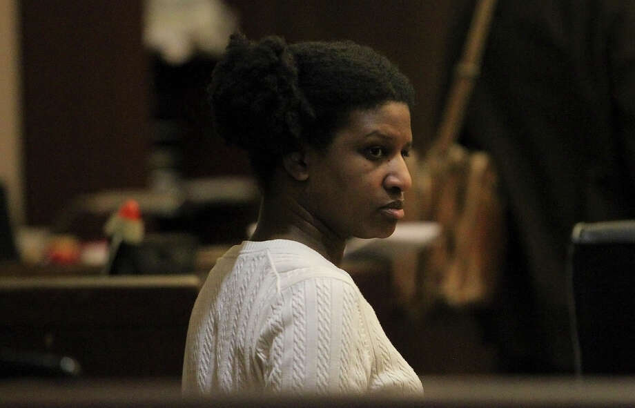 Tracy Devon Brown was convicted of murder for shooting her ex-husband in 2009. Brown's first jury could not come to a decision on sentencing and now a second jury is hearing the case to determine a sentence. Brown's attorney told a separate jury in 2010 that she committed the killing because of mental illness caused by domestic violence. A new trial took place in the 144th District Court with Judge Angus McGinty on Thursday, Nov. 15, 2012. Photo: Kin Man Hui, San Antonio Express-News / ©2012 San Antonio Express-News