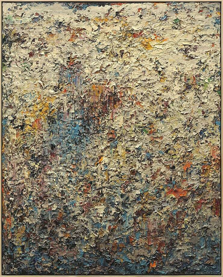 """""""Paintscape No. 10"""" (2012) oil on canvas by Charles Eckart    47"""" x 37"""" Photo: Unknown"""