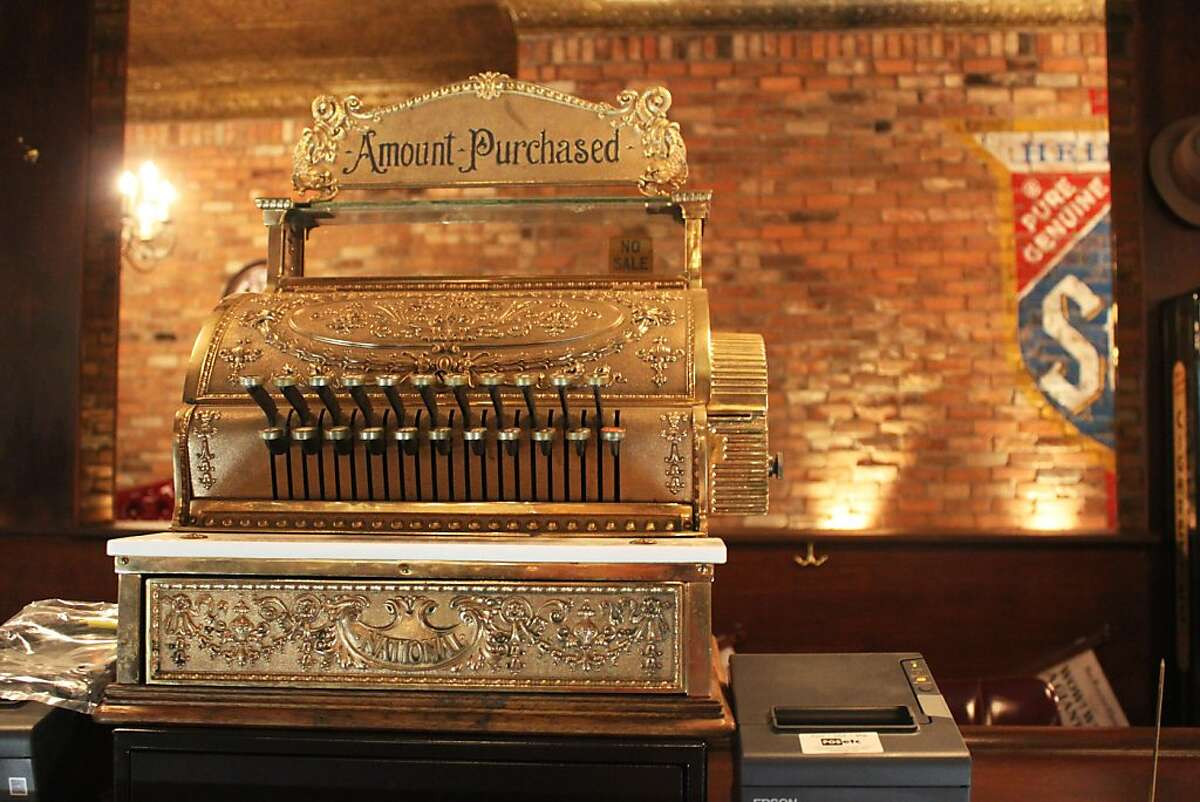 Cash register on the bar at Capo's, the new restaurant in North Beach from Tony Gemignani