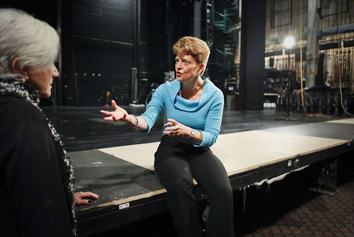 ACT artistic director Carey Perloff is seen on Wednesday, Oct. 10, 2012 at the Geary Theater in San Francisco, Calif.