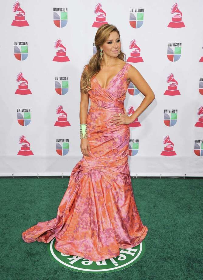 Singer Cristina Eustace arrives at the 13th annual Latin GRAMMY Awards held at the Mandalay Bay Events Center on November 15, 2012 in Las Vegas, Nevada. Photo: Jason Merritt, Getty Images / 2012 Getty Images