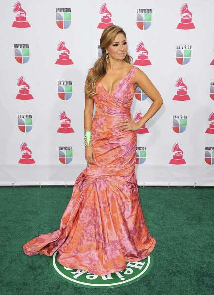 Singer Cristina Eustace arrives at the 13th annual Latin GRAMMY Awards held at the Mandalay Bay Ev