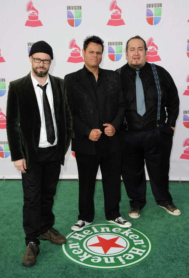 (L-R) Alex Otaola, Pascual Reyes and Luca Ortega of San Pascualito Rey arrive at the 13th annual Latin GRAMMY Awards held at the Mandalay Bay Events Center on November 15, 2012 in Las Vegas, Nevada. Photo: Jason Merritt, Getty Images / 2012 Getty Images