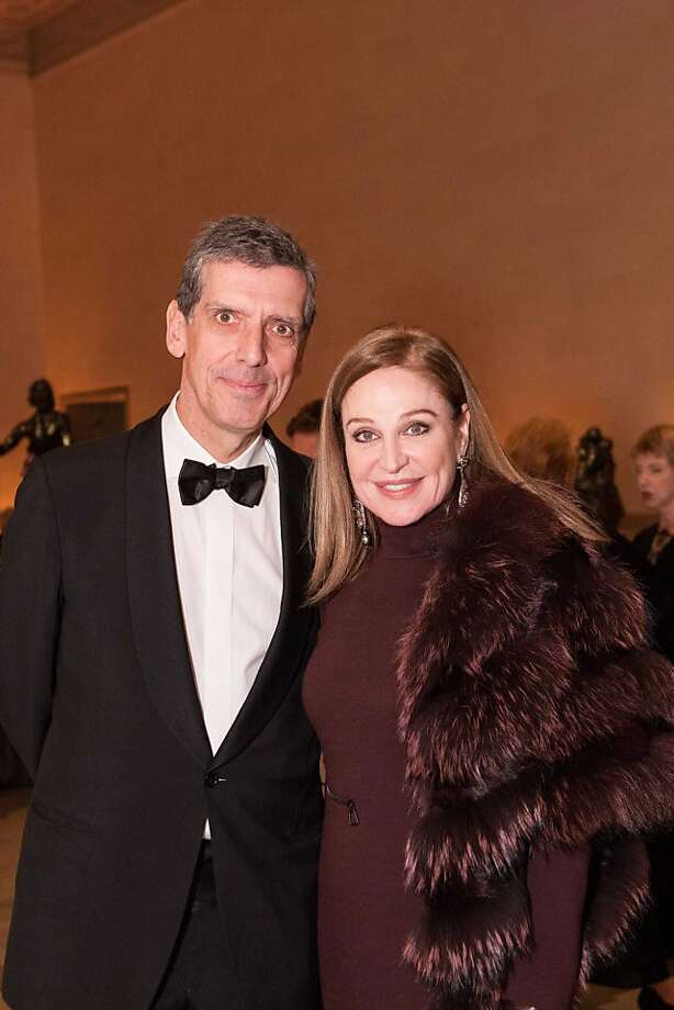 "Louvre museum director Henri Loyrette and Houston philanthropist Becca Cason-Thrash at the dinner for ""Royal Treasures From the Louvre: Louis XIV to Marie-Antoinette,"" opening Nov. 17 at the Legion of Honor in San Francisco. Photo: Drew Altizer Photography, Heather Wiley For Drew Altizer P"