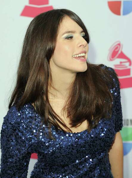 Singer Rosario Ortega arrives at the 13th annual Latin GRAMMY Awards held at the Mandalay Bay Events