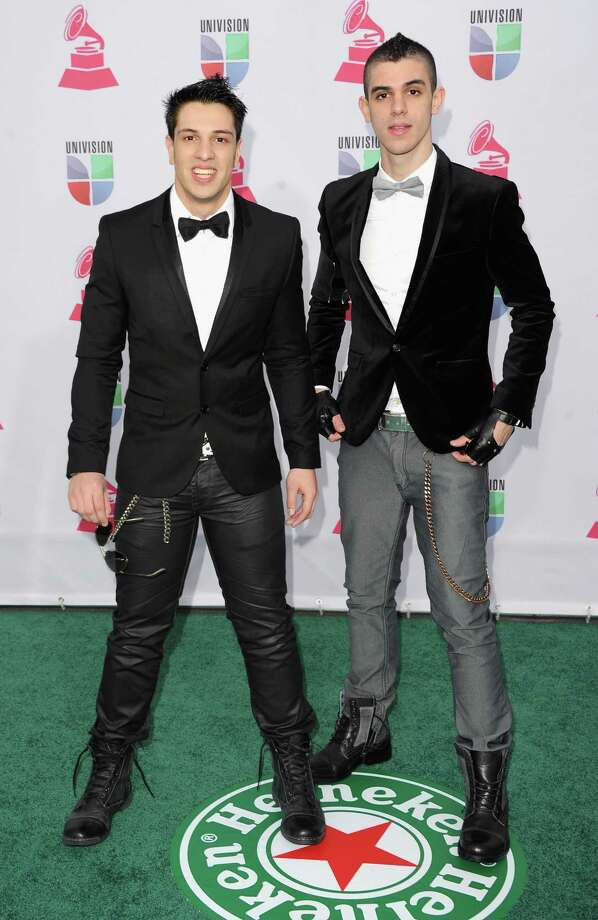 (L-R) Musicians Jorge Arguello and Mauricio Arguello of Black Rose Drive arrive at the 13th annual Latin GRAMMY Awards held at the Mandalay Bay Events Center on November 15, 2012 in Las Vegas, Nevada. Photo: Jason Merritt, Getty Images / 2012 Getty Images