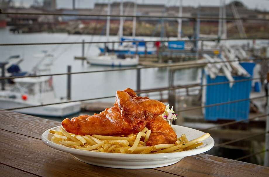 Mission Rock Resort's seafood-focused menu includes fish and chips, best enjoyed sitting near the dock of the bay. Photo: John Storey, Special To The Chronicle