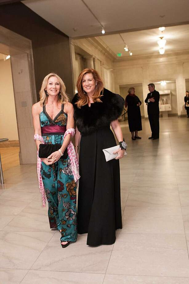 Triathlete Rosemary Baker and interior designer Jean Larette at the Legion of Honor Nov. 13. Photo: Drew Altizer Photography, Heather Wiley For Drew Altizer P