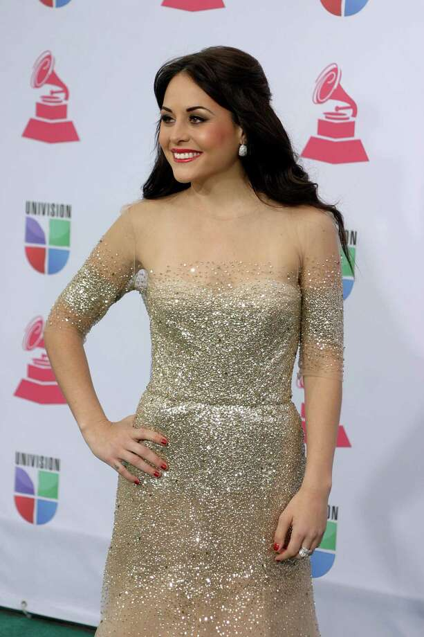 Mexican actress and singer Zuria Vega arrives for the 13th Annual Latin Grammy Awards on November 15, 2012 in Las Vegas, Nevada.    AFP PHOTO/John GURZINSKIJOHN GURZINSKI/AFP/Getty Images Photo: JOHN GURZINSKI, Getty Images / AFP