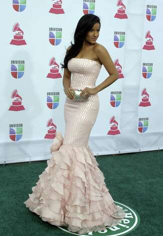 Massiel arrives for the 13th Annual Latin Grammy Awards on November 15, 2012 in Las Vegas, Nevada.    AFP PHOTO/John GURZINSKIJOHN GURZINSKI/AFP/Getty Images Photo: JOHN GURZINSKI, Getty Images / AFP