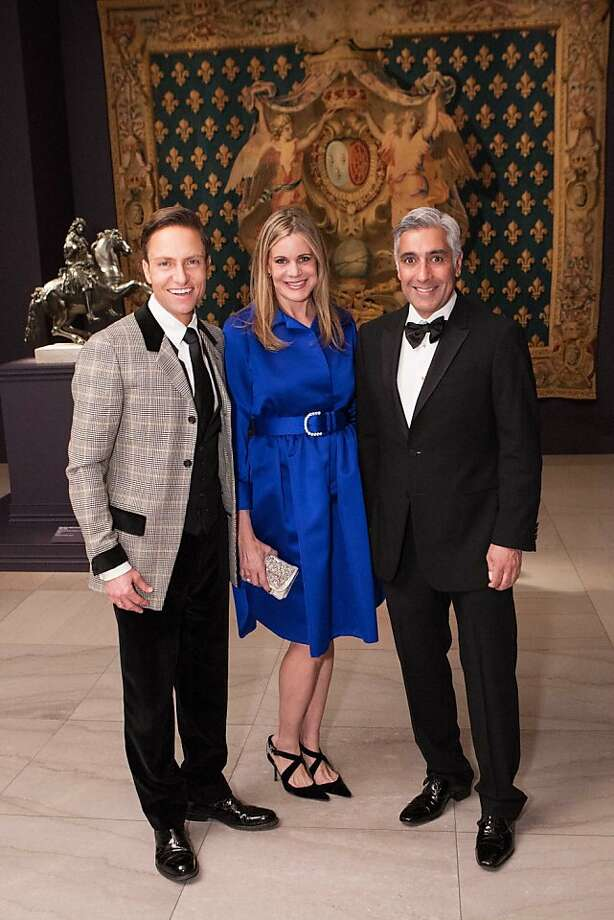 Ken Fulk, Mary Beth Shimmon and David Shimmon at the Legion of Honor Nov. 13. Photo: Drew Altizer Photography, Heather Wiley For Drew Altizer P