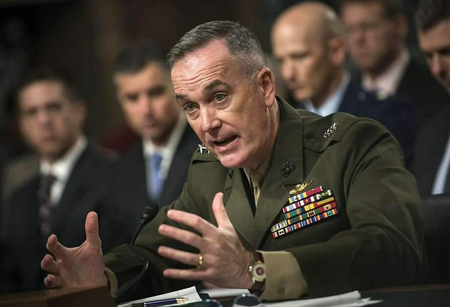 Marine Gen. Joseph Dunford, nominated to replace Afghan war chief Gen. John Allen, speaks during a hearing of the Senate Armed Service Committee. Photo: Brendan Smialowski, AFP/Getty Images