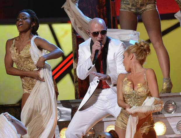 Pitbull performs during the 13th Annual Latin Grammy show on November 15, 2012 in Las Vegas, Nevada.    AFP PHOTO/Robyn BECKROBYN BECK/AFP/Getty Images Photo: ROBYN BECK, Getty Images / AFP