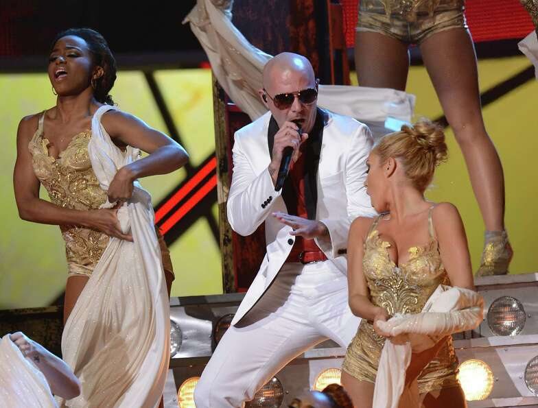 Pitbull performs during the 13th Annual Latin Grammy show on November 15, 2012 in Las Vegas, Nevada.