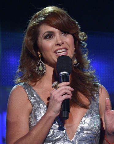 Host Lucero speaks onstage during the 13th annual Latin GRAMMY Awards held at the Mandalay Bay Events Center on November 15, 2012 in Las Vegas, Nevada. Photo: Kevork Djansezian, Getty Images / 2012 Getty Images