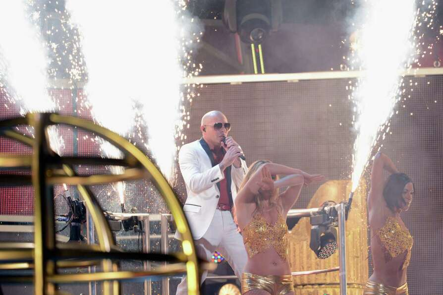 Recording artist Pitbull performs onstage during the 13th annual Latin GRAMMY Awards held at the Man
