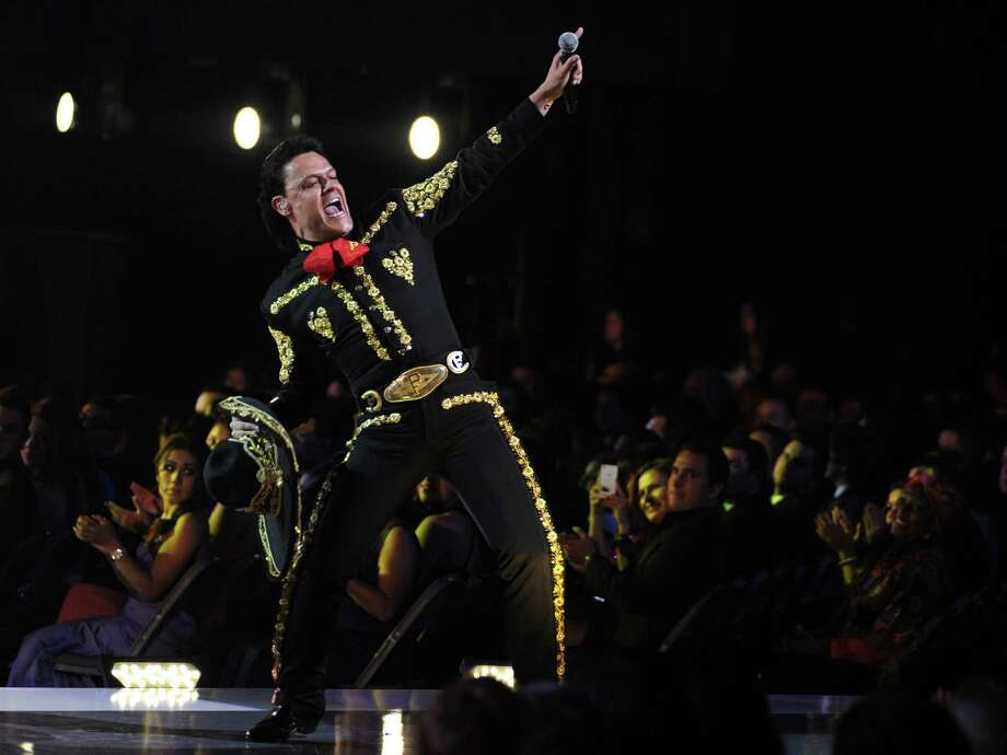 "Pedro Fernandez performs ""No Que No"" at the 13th Annual Latin Grammy Awards at Mandalay Bay on Thursday, Nov. 15, 2012, in Las Vegas. (Photo by Al Powers/Powers Imagery/Invision/AP) Photo: Al Powers, Associated Press / Invision"