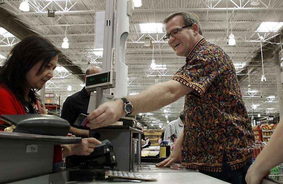Mark Gilliam A Cashier At The San Francisco Calif Costco Helps