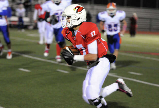 Greenwich High School hosts Danbury in a football game in Greenwich, Conn., Nov. 15, 2012. Photo: Keelin Daly / Stamford Advocate Riverbend Stamford, CT