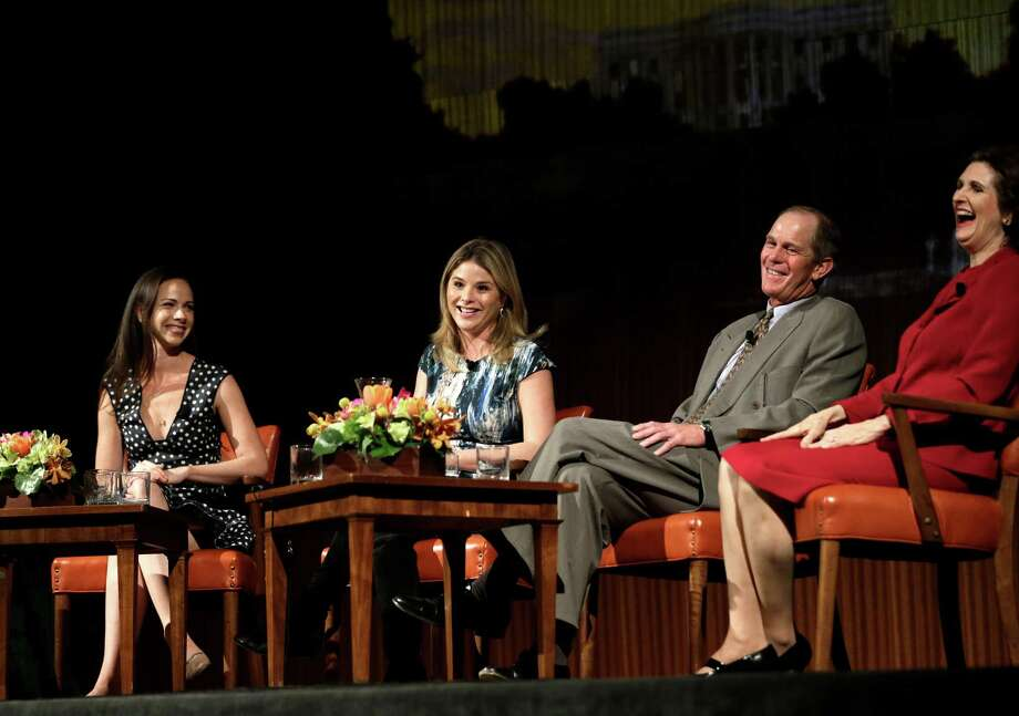 Barbara Pierce Bush, sister Jenna Bush Hager, Steve Ford and Lynda Johnson Robb discussd life under the White House microscope at the LBJ Library. Photo: David J. Phillip, STF / AP