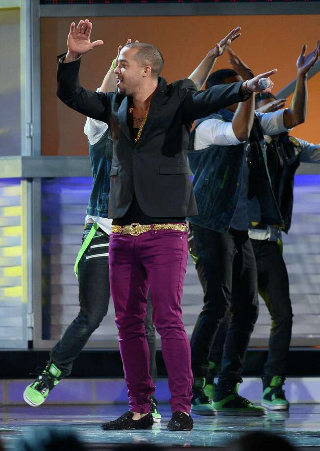 Singer Skyblu onstage during the 13th annual Latin GRAMMY Awards held at the Mandalay Bay Events Center on November 15, 2012 in Las Vegas, Nevada. Photo: Kevork Djansezian, Getty Images / 2012 Getty Images