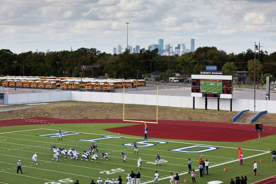 North Forest ISD plays Wheatley High School Nov. 10, 2012 in Houston at Barnett Stadium. North Forest won and is now 10-0 - they won 4 games last season and just two the year before that. North Forest leaders are fighting to keep the state from closing their school district next year unless they can raise student test scores, lower the dropout rate, repay $8 million in debt and don't deplete the savings account again. Photo: Eric Kayne, For The Chronicle / © 2012 Eric Kayne