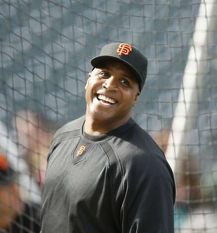 GIANTS07_LI_001.JPG Barry Bonds shares a laugh during batting practice.  Washington Nationals play the San Francisco Giants at AT&T Park in San Francisco, CA, on Monday, August 06,  2007. Lance Iversen / The Chronicle Photo: Lance Iversen, The Chronicle
