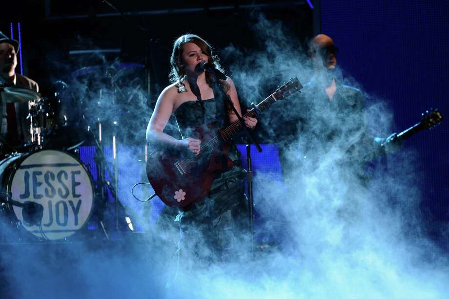 Musician Joy Huerta of Jesse y Joy performs onstage during the 13th annual Latin GRAMMY Awards held at the Mandalay Bay Events Center on November 15, 2012 in Las Vegas, Nevada. Photo: Kevork Djansezian, Getty Images / 2012 Getty Images